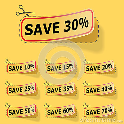 Discount yellow labels