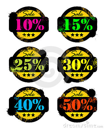 Discounts stickers