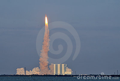 Discovery s Final Launch Editorial Stock Image