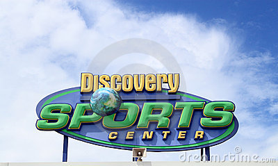 Discovery Sports Center Sign Editorial Stock Photo