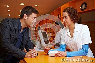 Discrete talk in pharmacy