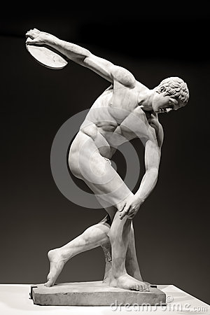 Free Discus-Thrower Royalty Free Stock Photo - 44237725