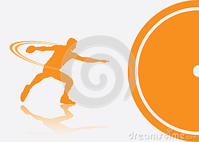 Discus thrower background