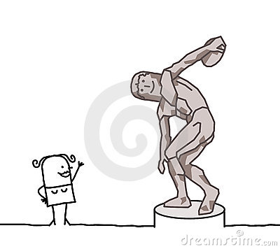 The discus thrower parody