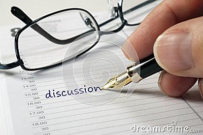 Discussion date