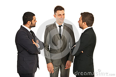 Discussion on three business men