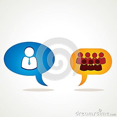 Discussione del leader della squadra con la squadra
