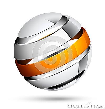 Diseño de la esfera 3d
