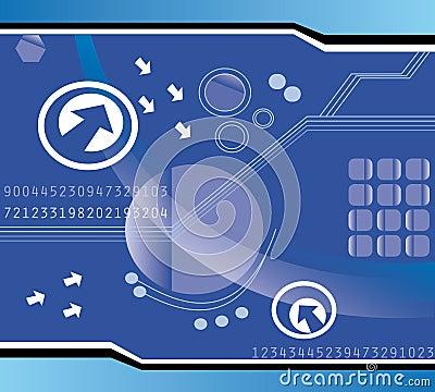Diseño del fondo de la tecnología