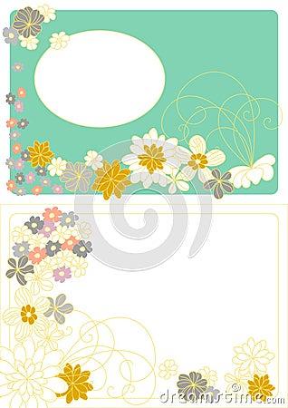 Diseño del vector con las flores