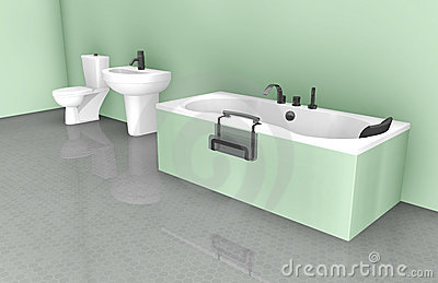 Diseño interior del cuarto de baño