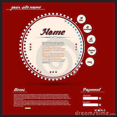 Diseño web del vintage