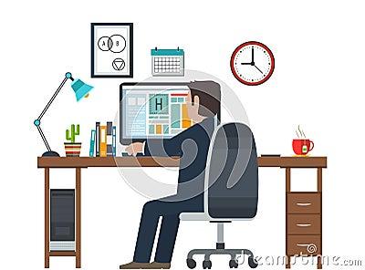Dise ador en el lugar de trabajo puesto de trabajo equipo for Ergonomia en el puesto de trabajo