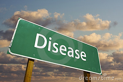 Disease Green Road Sign