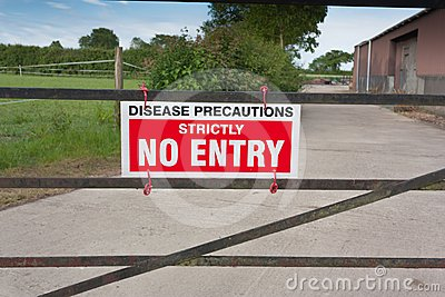 Disease Precautions No Entry Sign