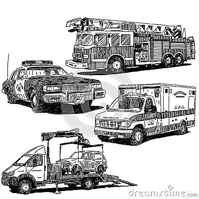 Disegni di vettore delle automobili messi illustrazione for Disegni delle macchine