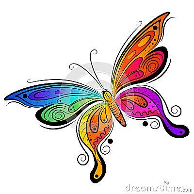 Disegno della farfalla di vettore