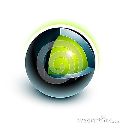 Disegno della sfera 3d