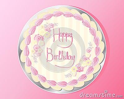 Disegno della torta di compleanno fotografia stock - Colorazione pagina della torta di compleanno ...