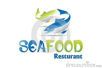 Disegno di marchio dei frutti di mare