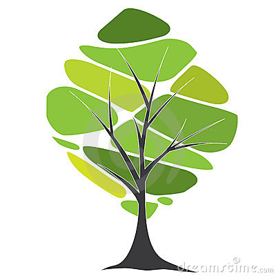 Disegno di scheda con gli alberi ed il testo stilizzati for Acquisto piante ulivo