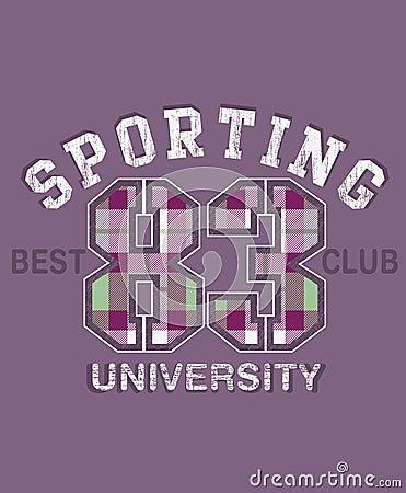 Disegno di sport dell università