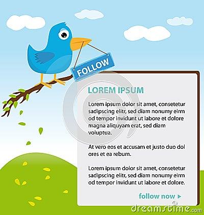 Disegno di tema del Twitter Fotografia Stock Editoriale