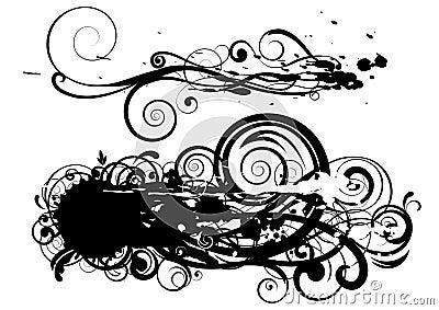 Disegno di turbinio del punto