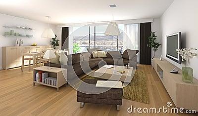 Disegno interno moderno dell 39 appartamento immagini stock for Immagini di appartamenti moderni