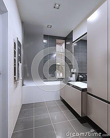 Disegno moderno della stanza da bagno illustrazione di for Disegno stanza