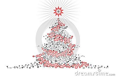 Disegno stilizzato illustartion dell 39 albero di natale for Albero natale stilizzato