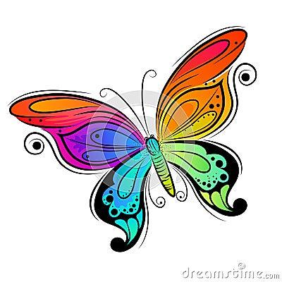 Diseño de la mariposa del vector