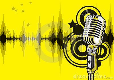 Diseño del acontecimiento de la música (vector)