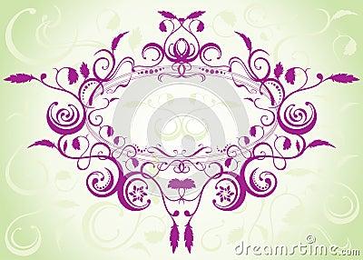 Diseño floral del modelo
