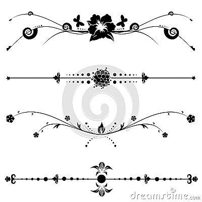 Diseños decorativos de la vendimia