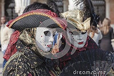 Disfraces venecianos Fotografía editorial