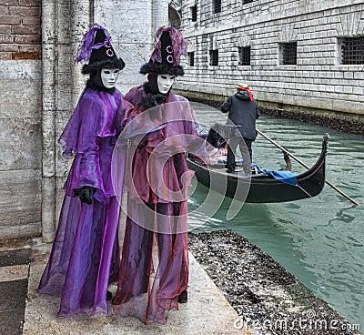 Disfraz veneciano Imagen editorial