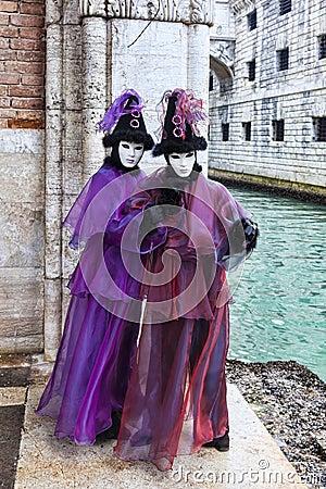 Disfraz veneciano Foto de archivo editorial