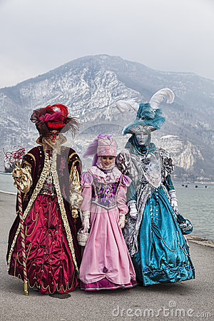 Disguised People in Annecy Editorial Photography