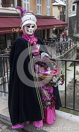 Disguised Person in Annecy Editorial Stock Image