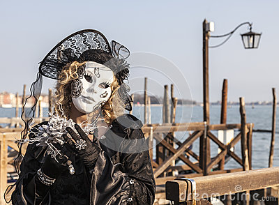 Disguised Woman Editorial Photography