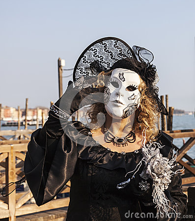 Disguised Woman Editorial Stock Photo
