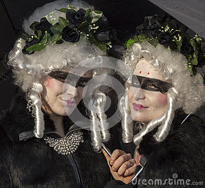 Disguised Women Editorial Stock Photo
