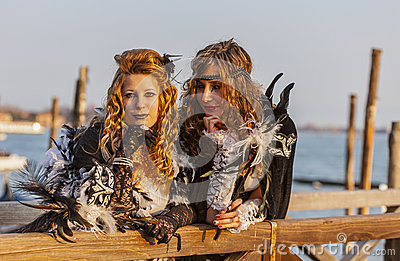 Disguised Women Editorial Photo