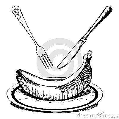 Dish of banana