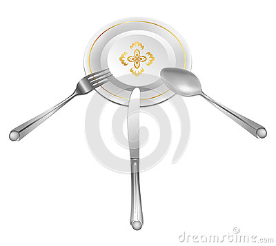 Dish with cross