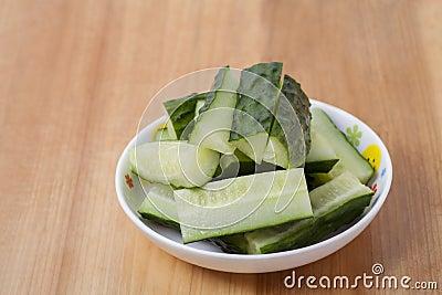 a dish cucumber