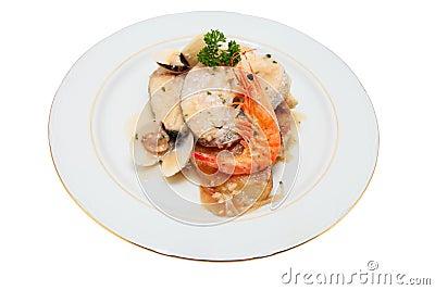 Dish of hake
