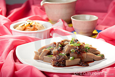 Dish of Korean mook.