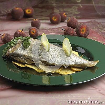 Free Dish Of Sea Bream 02 Stock Image - 12638961